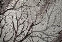 вышитые деревья