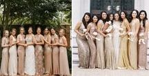 The Ladies. / Bridesmaid dresses and accessories we love. Follow for inspiration!