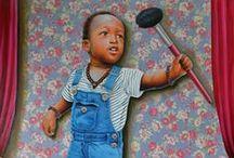 Oeuvres de la galerie Angalia / Œuvres d'artistes contemporains du Congo Kinshasa présentées par la galerie Angalia (www.angalia-arts.com)