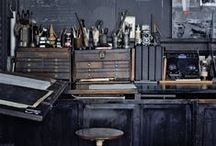 Workspaces ~ / Inspiration on workspaces and studios. Beautiful places for productivity and working!