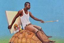 """Exposition solo d'Amani Bodo / """"Tambola malembe"""" : première exposition individuelle du peintre Amani Bodo à l'espace Texaf-Bilembo de Kinshasa en partenariat avec Angalia (11 mars-22 avril 2016)"""