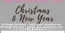 Christmas & New Year ~ A Helen's Journey Collection / crafts, decoration ideas, Nativity Story, foods, New Year posts etc