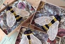 Beautiful Bees / A collection of bees, my own personal embroidery and inspirational work by others. Plus the real thing!