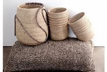 Woven Goods / Hand woven baskets, bags and shoes