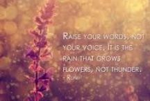 "Favorite Quotes / ""Raise your words, not your voice""  ― Rumi"
