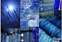 Colour - Blauw & Blue & Blau - Anders Style / Blauw:  Een koele en verfrissende kleur. Blauw is de kleur van het water en de lucht en werkt ruimte vergrotend in het interieur. Blauw geeft een gevoel van oneindigheid. Een wijde blauwe hemel en de uitgestrekte zee. Blauwtinten zijn goed met elkaar te combineren