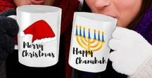 Celebrate: Holiday Gift Guide / Christmas and Chanukah Gift Ideas for Women, Men, Children, and Our Fur Babies. What can I say?  I LOVE Designing and offering Mugs that are wonderful for coffee, tea or cocoa.  They make wonderful stand alone gifts or you can fill them with coffee, different varieties of tea, cocoa, chocolates, movie tickets, a gift card ... it's up to your imagination. Wrap it up and you're good to go with a great present that is Guaranteed to put a smile on your recipients face!