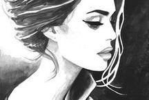 Tekenen - Zwart en wit / Drawings in black an white