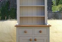 Small Kitchen Dressers / Small kitchen dressers handmade & hand painted in any size & colour. Made in West Wales with UK delivery arranged.