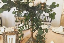 Centerpieces / Optional wedding reception centerpieces offered in our all inclusive packages