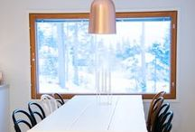 Scandinavian Pendant Lamps / Bronze, glass, chromed, Scandinavian ceiling lighting from Sessak  Find out more at Sessak.fi!