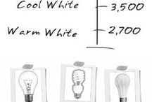 Lighting Infographics / Useful lighting information about LED, incandescents, fluorescent lamps. Also info about color temperatures.