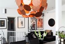 Copper Luminaires / Copper hanging, wall, floor, table lamps from Sessak