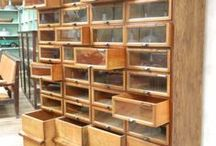 Stamping Storage Ideas / Here you will find ways that people have found to store there stamping & art supplies.  I wish I had a huge room to make a beautiful art studio. / by Sharon Frees