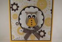 Cards Owl / Most of these samples are using the SU Owl Punch.  I did find a few stamped owl cards. / by Sharon Frees