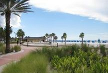 Beach Walk of Clearwater Beach / Beach Walk is a sidewalk created to take you past some of the best sights, attractions and restaurants of Clearwater Beach.