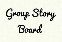 Group Story Board / A board where you can write your own stories or collaborate with others. Discuss your ideas and have fun. Anyone is free to join!