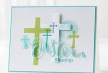 Cards Crosses/Easter/Christian / These samples can be used for Confirmation, Baptism, Easter, Sympathy or any other symbolic occasion.  So sorry for putting bunny cards here, but please forgive me.  I thought all the cards with the crosses were stunning.  Hope you do.  I moved these cards from my All holidays not Christmas board. / by Sharon Frees