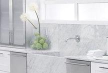 Kitchen Inspiration - White / We're pinning inspiration for designing a white kitchen.