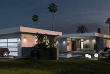 Mid Century Modern Houses and Floor Planes