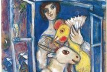 marc chagall (1887 – 1985) / Marc Zaharovich Chagall (6 July [O.S. 24 June] 1887 – 28 March 1985) was a Jewish Russian-French artist associated with several major artistic styles and one of the most successful artists of the 20th century.