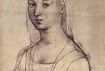 raphael (1483 – 1520) drawings & paintings / Raffaello Sanzio da Urbino[ (April 6 or March 28, 1483 – April 6, 1520[3]), was an Italian painter & architect of the High Renaissance. His work is admired for its clarity of form & ease of composition & for its visual achievement of the Neoplatonic ideal of human grandeur.