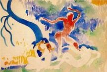 frantisek kupka (1871 – 1957) &  andre derain ( 1880 – 1954) / František Kupka (September 23, 1871 – June 24, 1957),  Czech painter & graphic artist. Pioneer & co-founder of the early phases of the abstract art movement & Orphic cubism (Orphism)      ///     André Derain (10 June 1880 – 8 September 1954) French artist, painter, sculptor & co-founder of Fauvism with Henri Matisse.