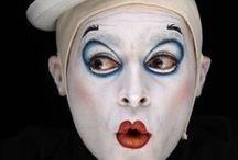 pierrot, harlequins, clowns, jester, payaso