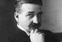 wizard of oz creator: l. frank baum (1856-1919) / Wizard of Oz : Author  Lyman Frank Baum, 1856-1919 & early illustrator William Wallace Denslow, 1856-1915. Then also the MGM version ...