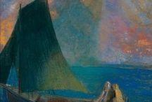 bobbette rose -  james shay - odilon redon / Bertrand-Jean Redon, AKA Odilon Redon (1840 – 1916) French symbolist painter, printmaker, draughtsman & pastellist. /// James Shay, living Artist in San Rafael, CA, USA