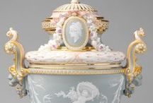 meissen, kpm, sèvres, et al porcelain / Europeans had been trying to achieve the brilliance and translucency of Asian porcelain for centuries. Meissen was the first European firm to unlock the secrets of porcelain manufacture, which had been made in China since the 7th Century.