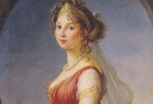 elisabeth vigee le brun (1755 – 1842) / Louise Élisabeth Vigée Le Brun a French painter recognized as the most important female painter of 18th century. Her style is generally considered Rococo & shows interest in the subject of neoclassical painting. Vigée Le Brun cannot be considered a pure Neoclassist, however, in that she creates mostly portraits in Neoclassical dress rather than the History painting. In her choice of color & style while serving as the portrait painter to Marie Antoinette, Vigée Le Brun is purely Rococo. WIKIPEDIA