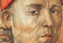 benozzo gozzoli (c. 1421 – 1497) / Born Benozzo di Lese in the village of Sant'Ilario a Colombano, an Italian Renaissance painter from Florence. Best known for a series of murals in the Palazzo Medici-Riccardi depicting festive, vibrant processions (from Wikipedia)