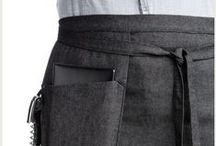 SR | Chef Aprons / utility chic aprons made of heavy duty canvas and cotton