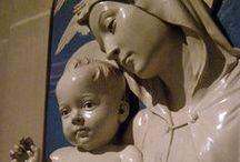 della robbia (luca, andrea, giovanni & girolamo) & agostino di duccio / Florentine Sculptors of della robbia's (luca1400–81 / andrea 1435 – 1525 (nephew of Luca) / giovanni 1469–1529 (son of Andrea) / girolamo 1488–1566 (son of Andrea) ) & agostino di duccio (1418 – c.1481)