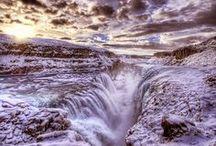 Gullfoss waterfall | Winter / Beautiful pictures of Gullfoss waterfall in the winter time in Iceland