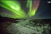 Gullfoss waterfall | Aurora