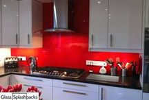 Red & Orange Glass splashbacks / Explore our albums for inspiration on glass splashbacks. This album contains different styles of kitchens with red and orange glass splashbacks. We create bespoke glass products in any colour, pattern or image. Whether it's a splash back, worktop or table top, it's possible to personalise your glass to suit your existing decor, or taste.  Visit www.glasssplashbacks.com for more inspiration!