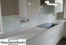 White, Grey & Black Glass splashbacks / Explore our albums for inspiration on glass splashbacks. This album contains different styles of kitchens with white, grey & black glass splashbacks. We create bespoke glass products in any colour, pattern or image. Whether it's a splash back, worktop or table top, it's possible to personalise your glass to suit your existing decor, or taste. Visit www.glasssplashbacks.com for more inspiration!