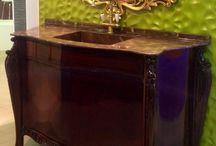 RABBA Klasik Masif Banyo Dolapları Solid Surface Tasarım Lavabolar. / Akrilik Mutfak Tezgahları,lavabo tasarımları,banko,Karşılama üniteleri,desk,dekoratif panolar,separatör,aksesuar vb...