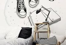 Teen or Student Room / Tips and decorating ideas * A sleep area * A study area * A place to lounge with friends