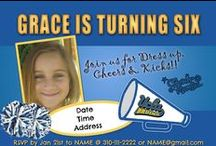 UCLA Cheer Mania Party Ideas / All things Blue & Gold for that perfect Bruins Cheerleading party by Cheer Mania Party