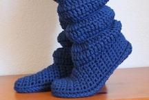 Crochet slippers, socks, boots