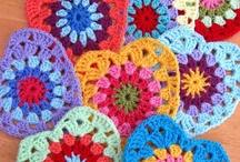Crochet flowers..hearts..buterfflies