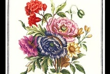 Louis Tessier (1719 - 1781) / Very rare botanical prints from the English language limited edition of Bouquets by Jean-Baptiste Monnoyer Fils with illustrations by Louis Tessier, Flower Painter to the King