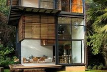 Home / Ideas to build a dream house. Facades, exterior houses, construction materials, ecologic.