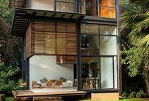 Home / Ideas to build a dream house. Facades, exterior houses, construction materials, ecologic.