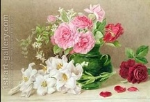 Mary Elizabeth Duffield (1819-1914) / Mary Elizabeth (Duffield) Rosenberg -   was a British painter who specialized in watercolor botanicals.  She  married still-life artist William Duffield  in 1850 and evidently signed some of her paintings with the name M.E. Duffield. No other information is available online.