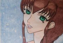 My Original Characters / Here is a collection of my Original Character(s). These characters are all fully drawn and designed by me!   Art  and Design © copyright: Amanda Sloothaak (AmyMizuki.deviantart.com)  Visit my Deviantart page to see more drawings! http://AmyMizuki.deviantart.com