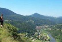 Chemin de Cluny / Le chemin de Cluny, à l'architecture riche et à la variété de ses paysages, traverse la Bourgogne en partant de Cluny, franchit les monts du Beaujolais, les côtes Roannaises et parcours les monts du Forez avant de rejoindre le Puy-en-Velay par les gorges de la Loire.